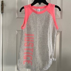 JUSTICE GIRLS SHIRT W TIE KNOT TANK TOP 6/7 NWOT